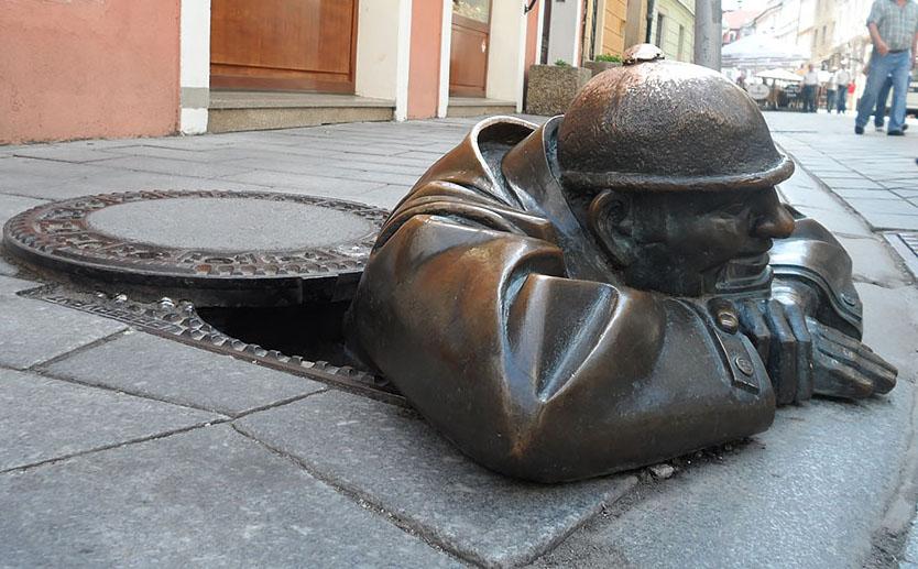 creative sculpture man