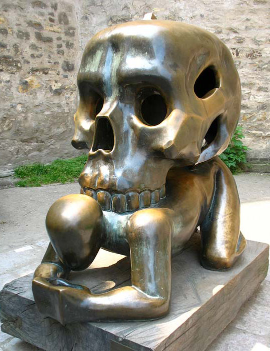 creative sculptures skull