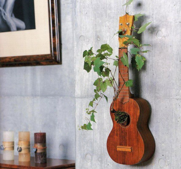 diy inspiration ideas guitar plant