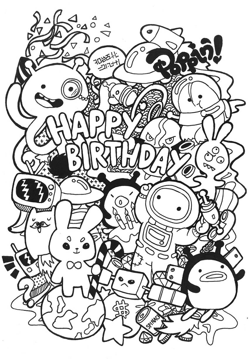 doodle artwork birthday