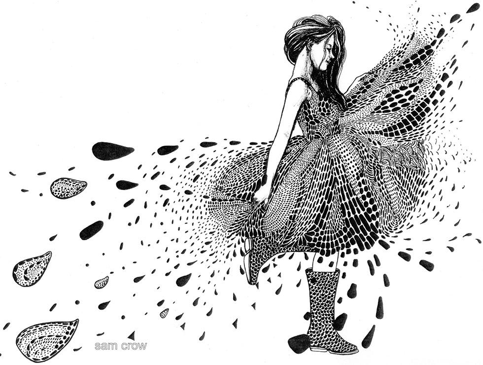 doodle artwork girl