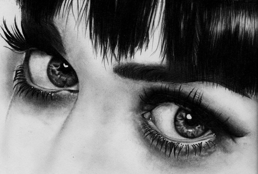 eyes drawing realistic girl eye