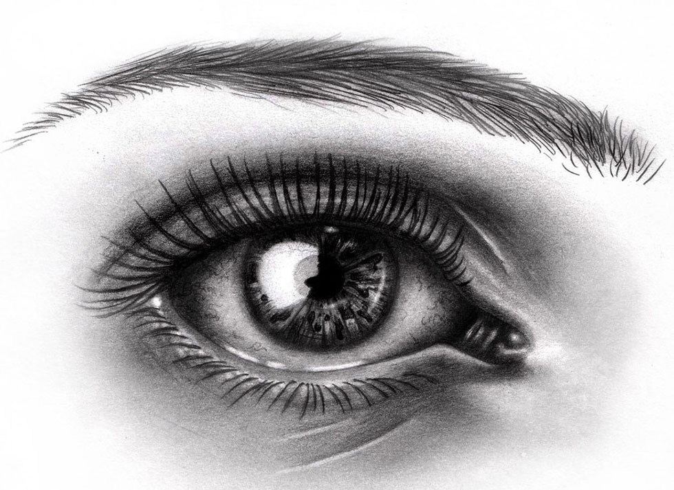 eyes drawings realistic sad eye