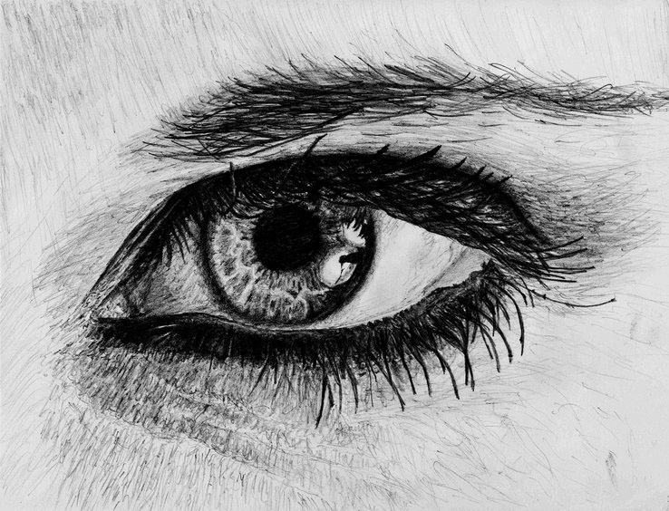 eyes drawings realistic serenity eye