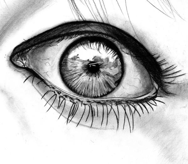 eyes drawings realistic surprised eye