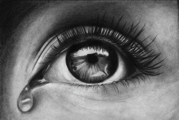 eyes drawings realistic tear eye