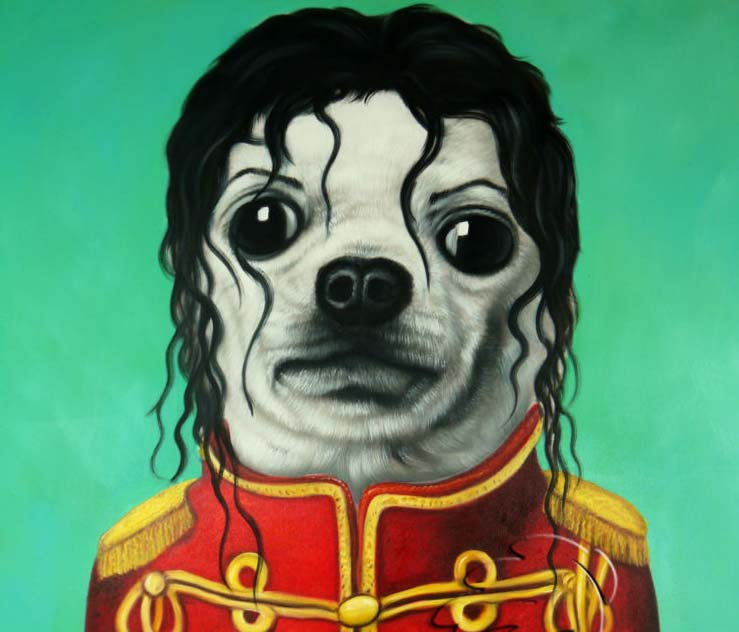 funny painting dog