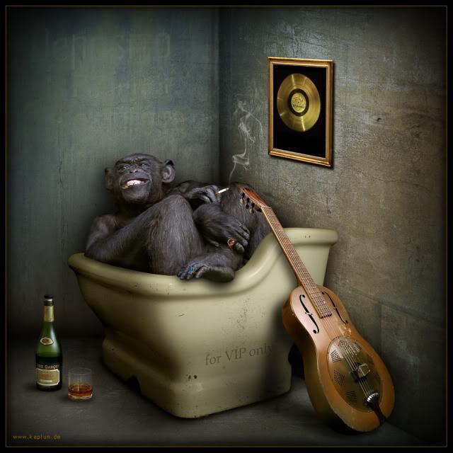funny painting monkey art
