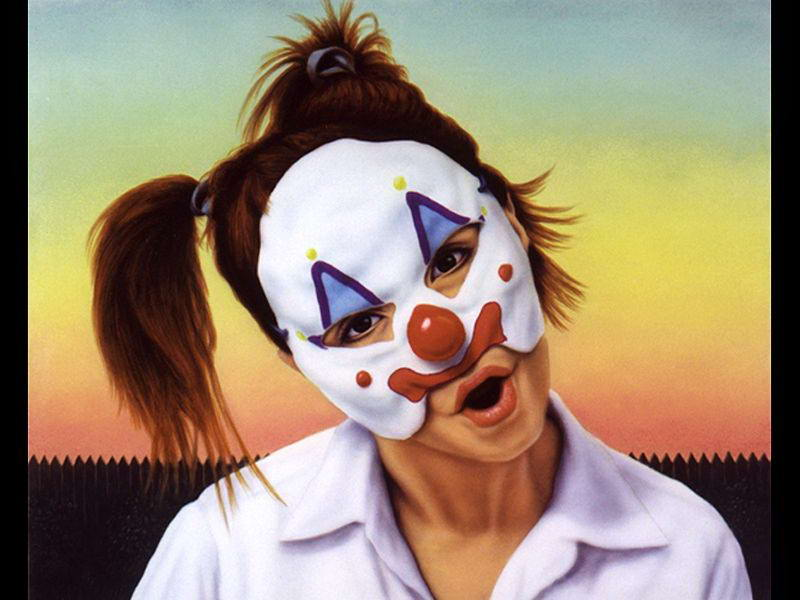 funny paintings clown face