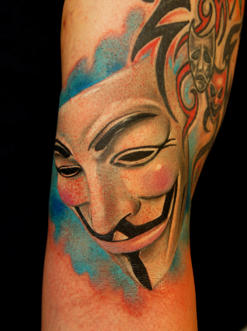tattoos for men mask artwork by grimmy