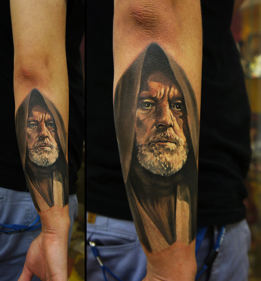 tattoos for men obi wan kenobi artwork by grimmy