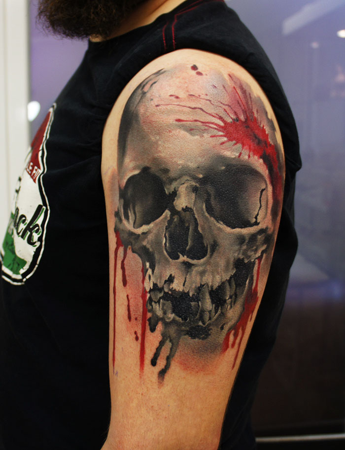 tattoos for men skull artwork