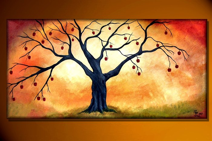 tree painting apple tree