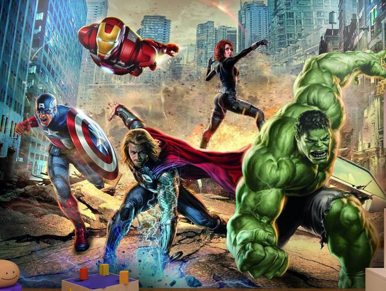 wall mural painting avengers