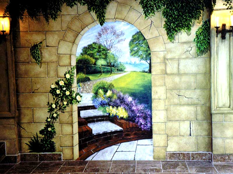 wall mural painting home