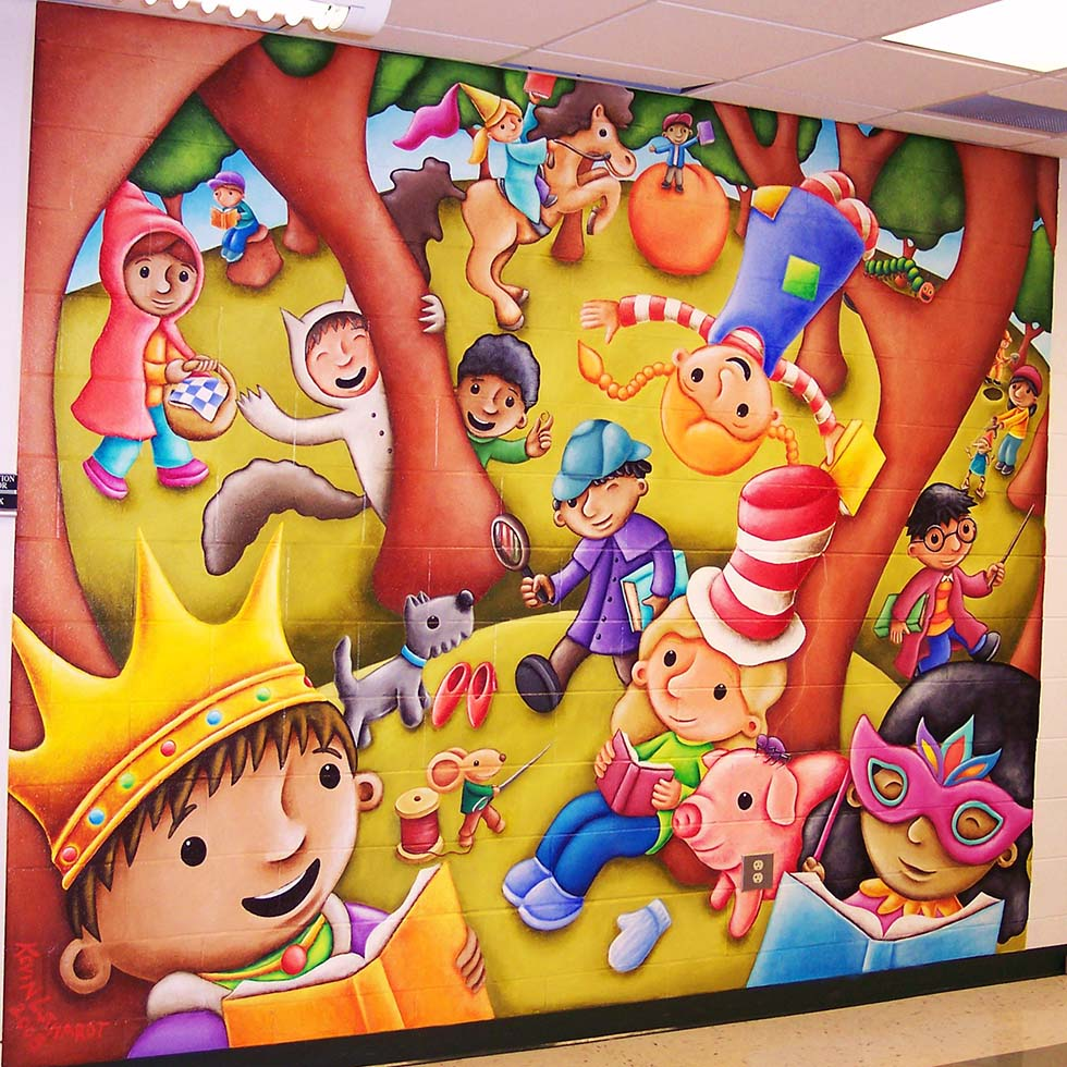 wall mural painting kids