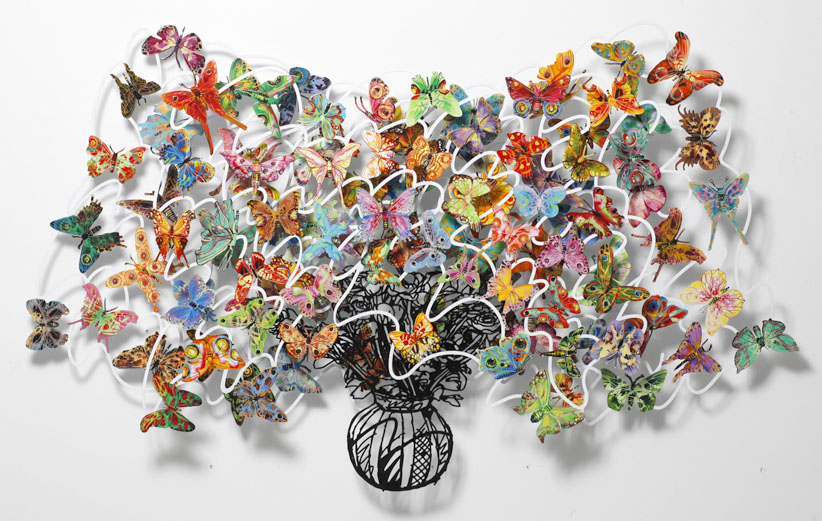 wall sculpture butterflies