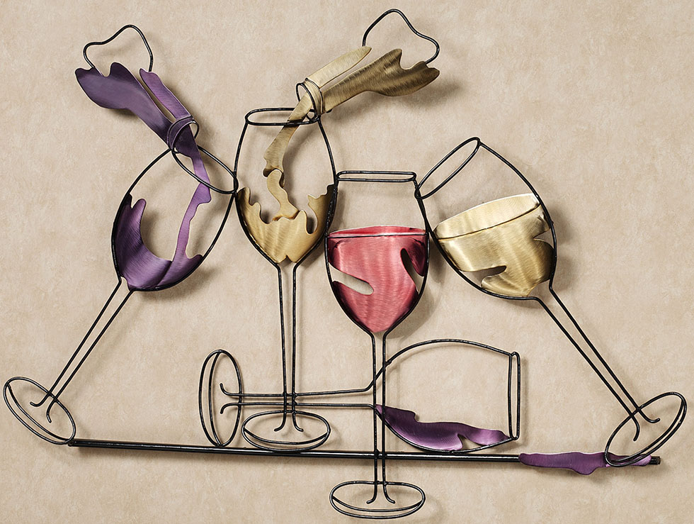 wall sculpture glasses