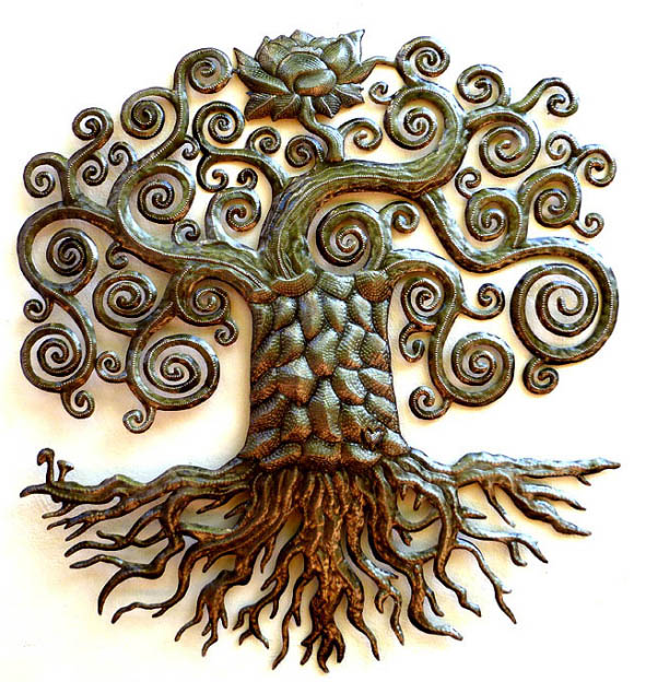 wall sculpture modern tree