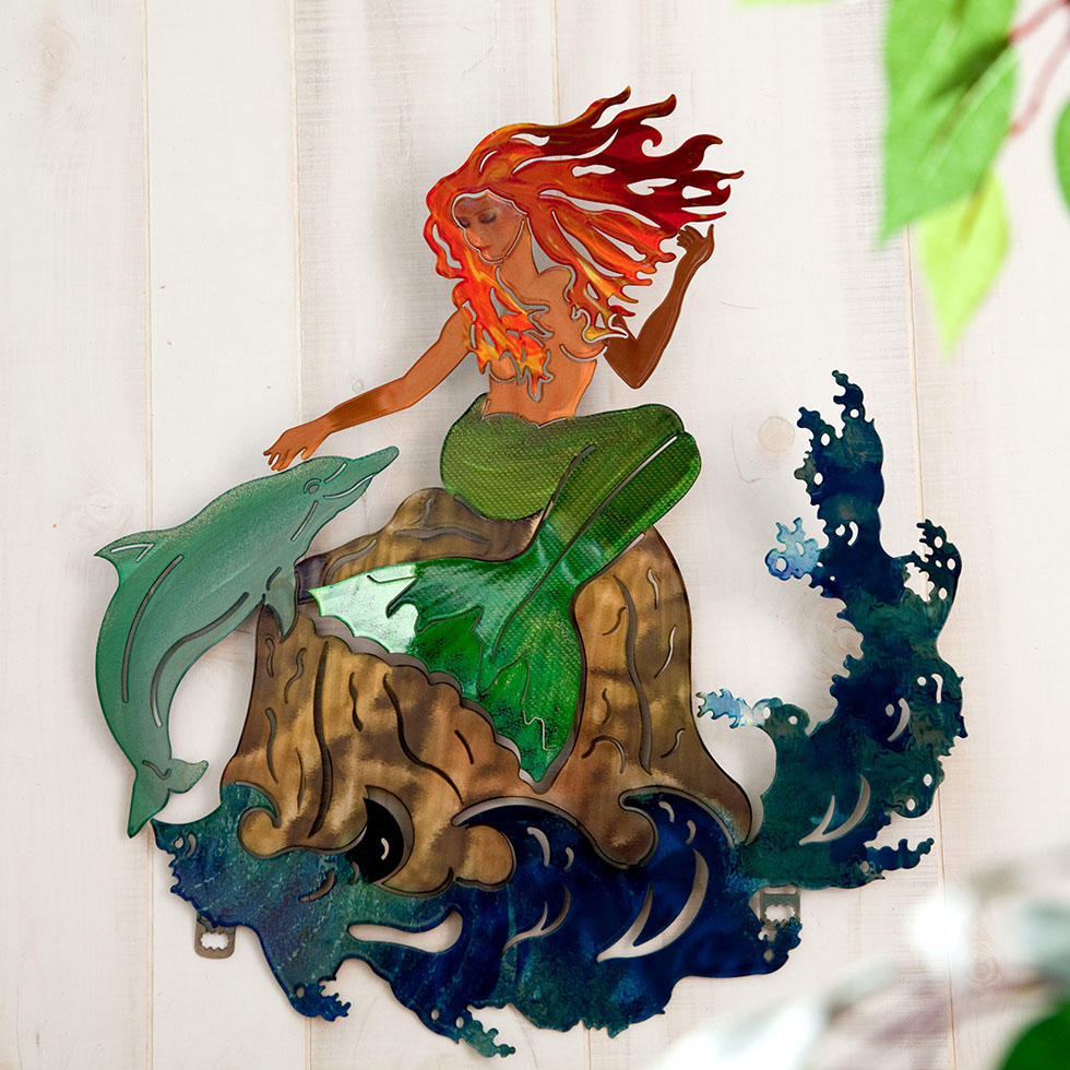 wall sculpture sea maiden