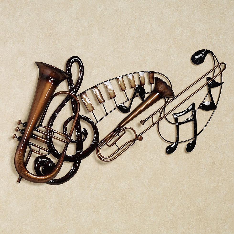 wall sculpture trumpet