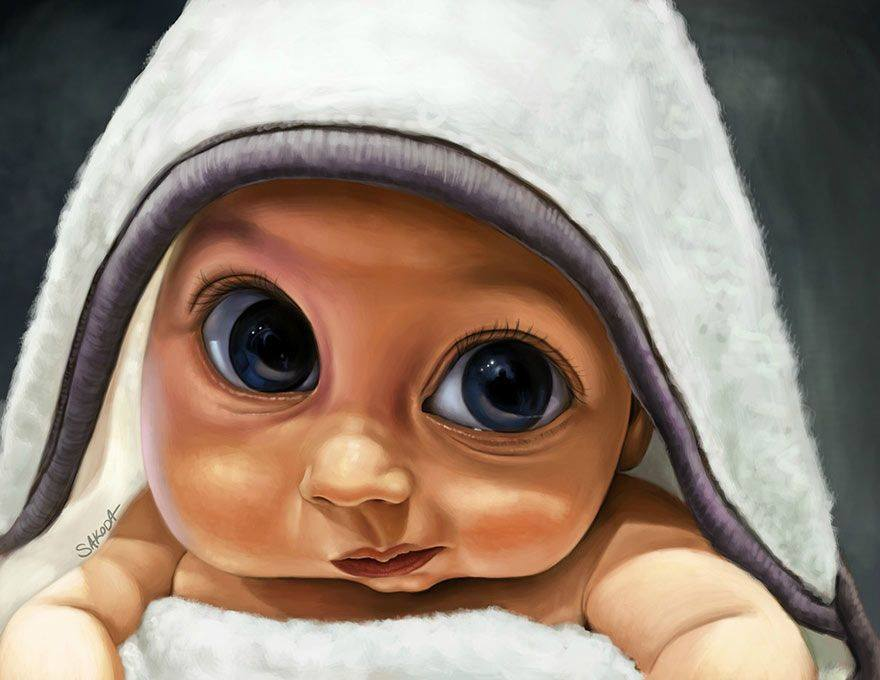 baby digital art