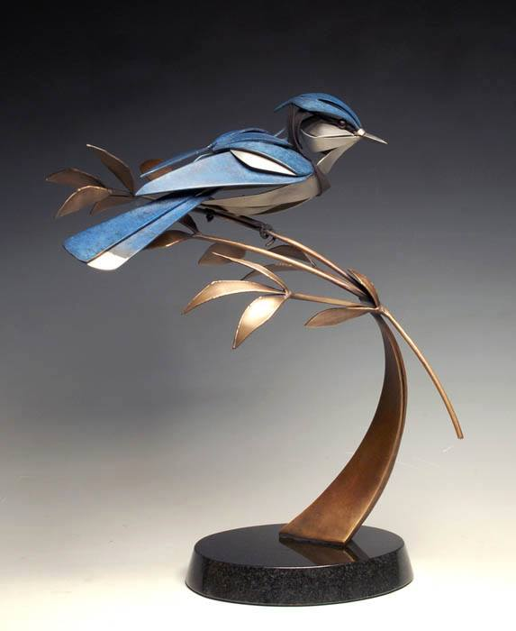 bird metal sculpture