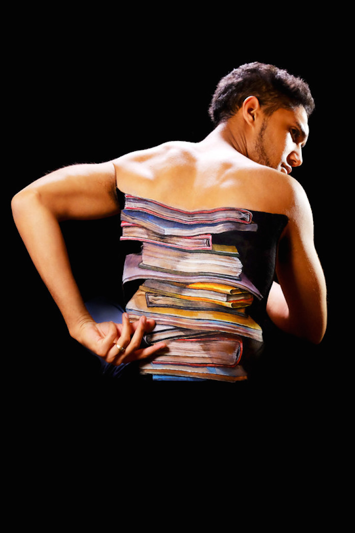 books body paintings by hikaru