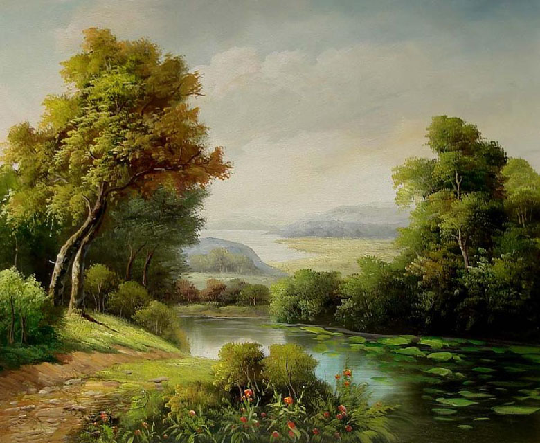 classical landscape oil paintings