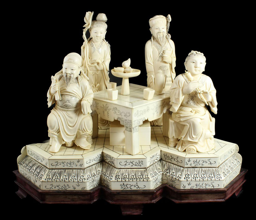 cross ivory sculptures