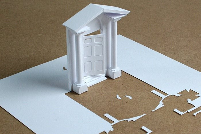 door paper sculpture