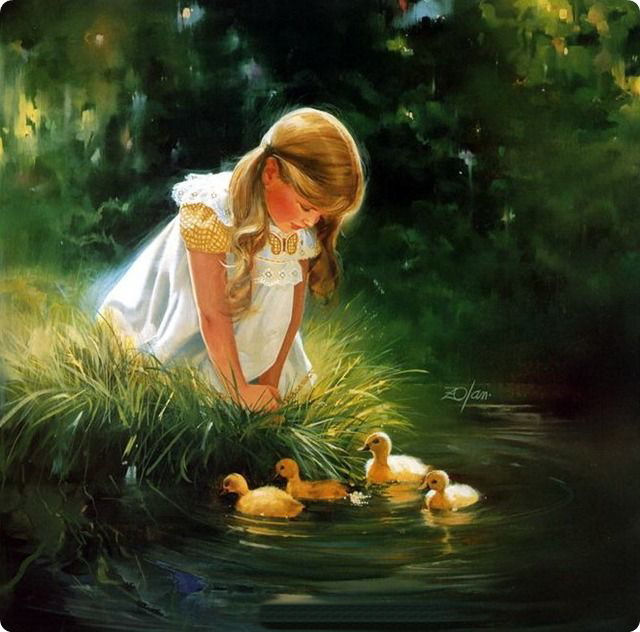 duck oil paintings by donald