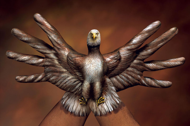 eagle body paintings by guido