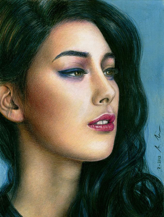 elif color pencil drawings