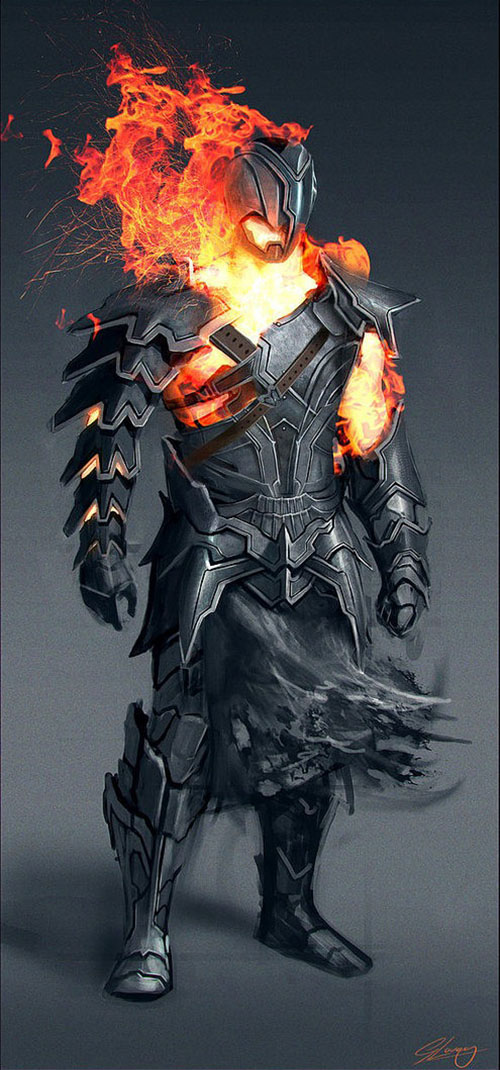 fire man concept art