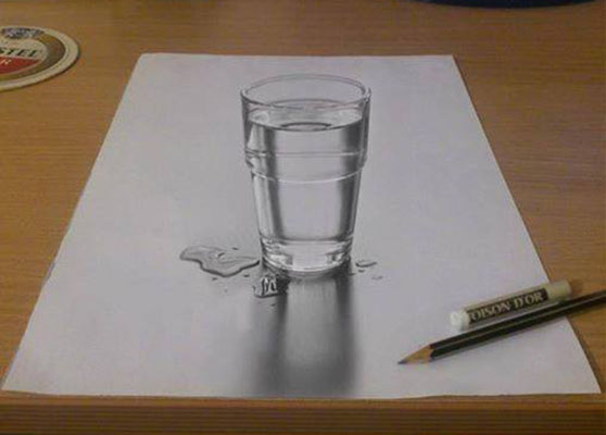 glass 3d drawings