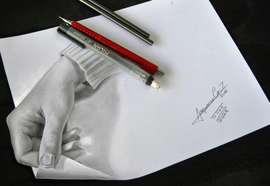 hand 3d drawing