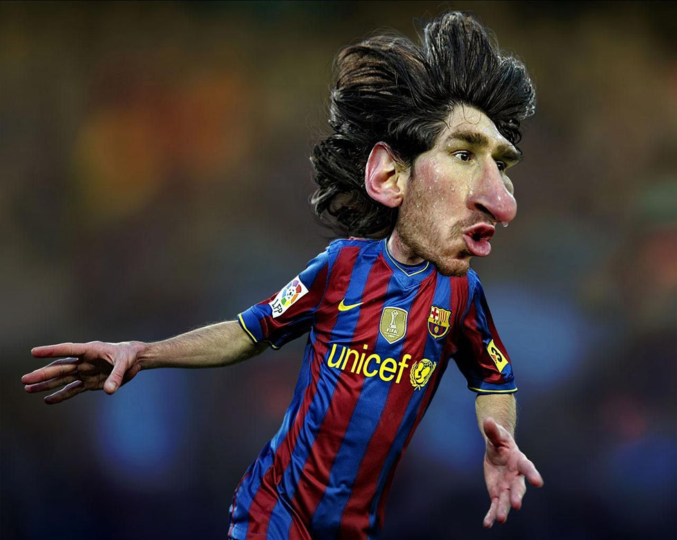 lionel messi caricatures