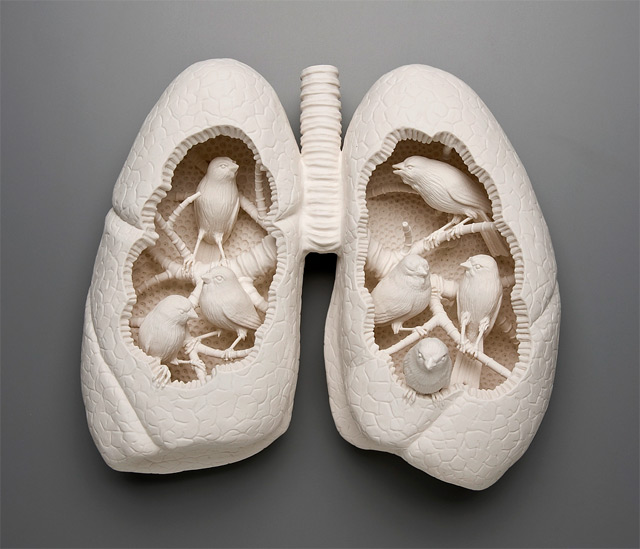lungs sculptures