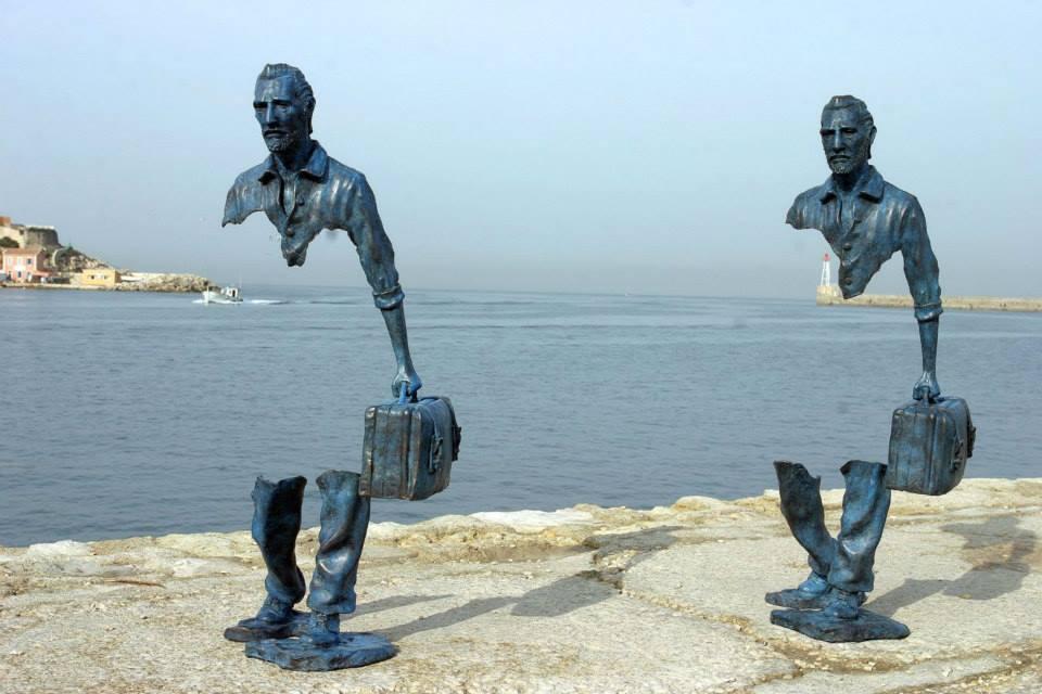man metal sculpture