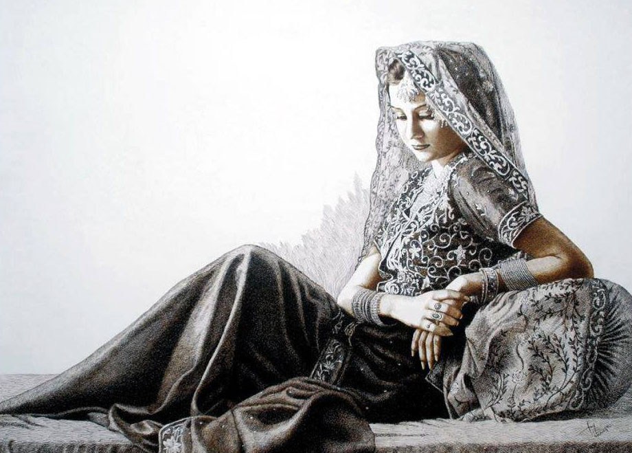 pakistani girl drawing by asif