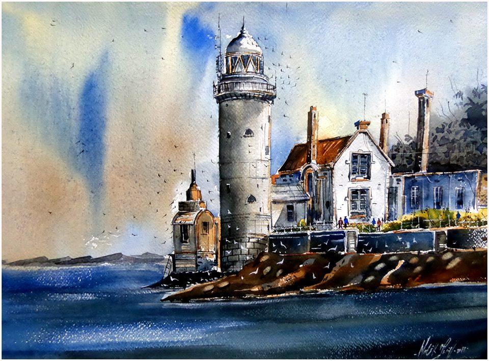port watercolor paintings