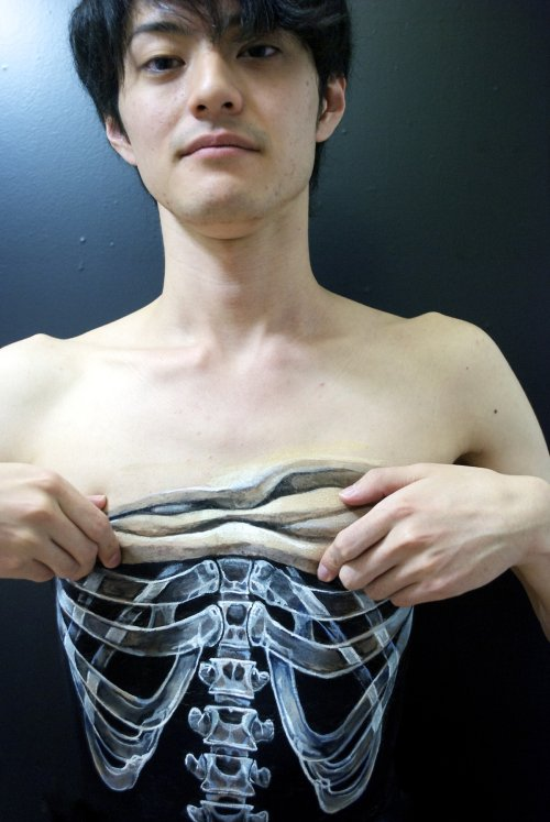 skeleton body paintings