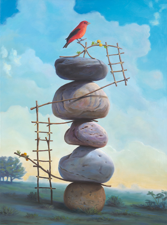 stone surreal paintings by paul