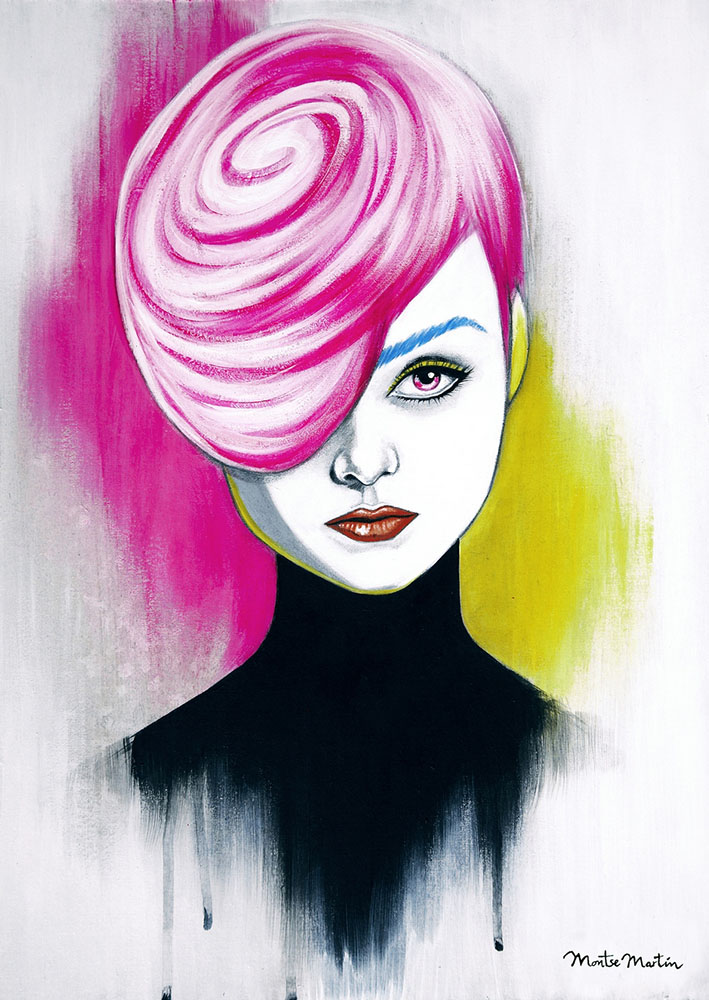 woman acrylic paintings by montse