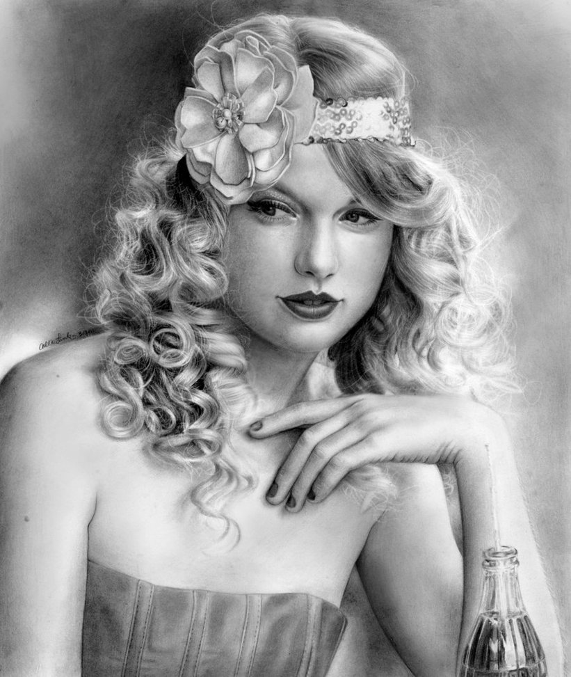 woman realistic drawings