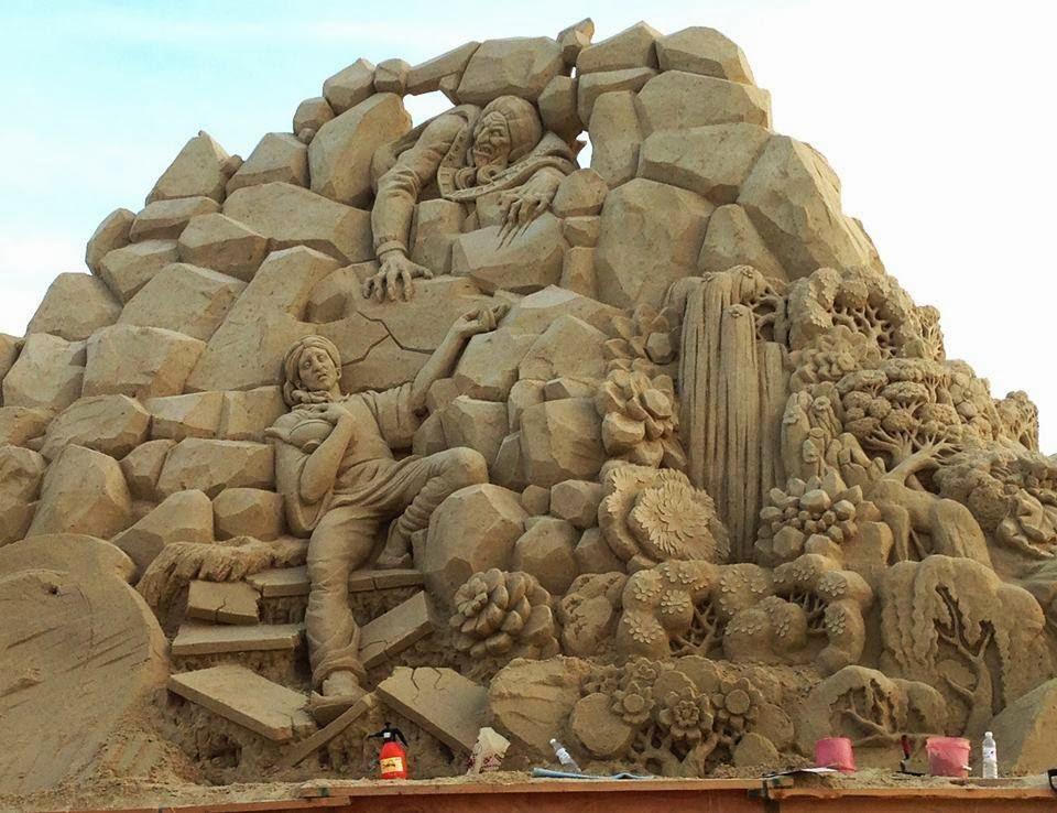 aladdin sand sculptures -  1