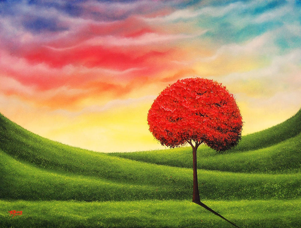 red tree paintings -  1