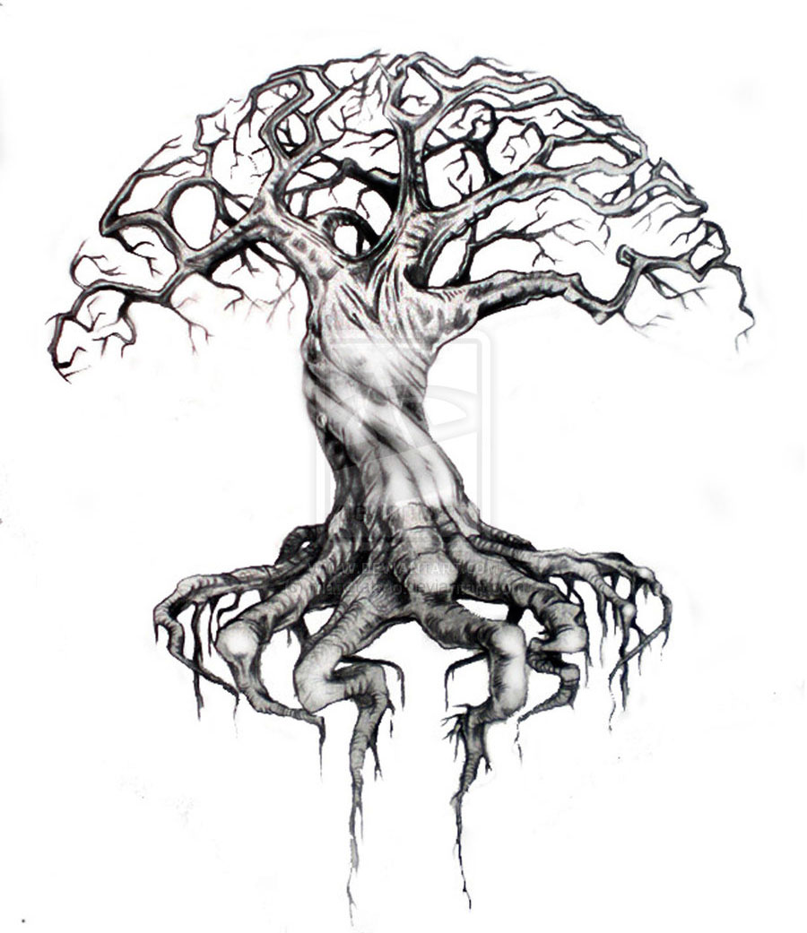 tree drawings by bymatt2tattoo -  1