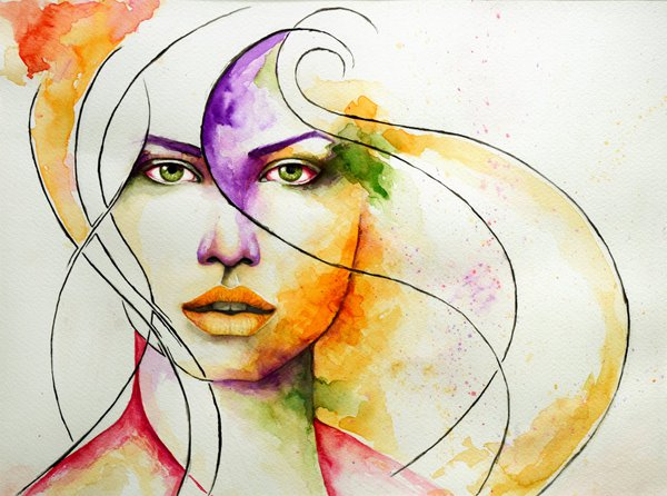 1 water colour paintings
